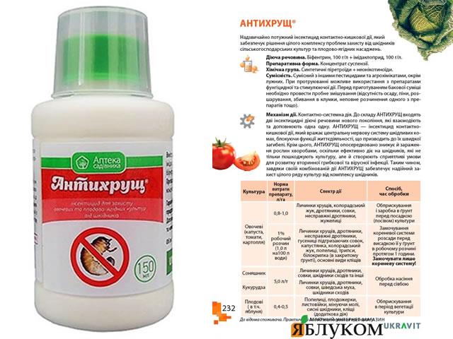 Препарат Антихрущ для борьбы с личинками майского жука
