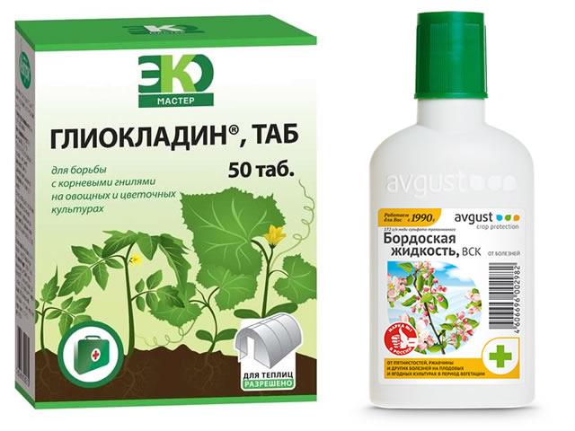 Глиокладин и бордоская жидкость для борьбы с болезнями клубники