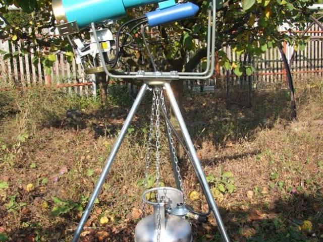 Пушка для защиты садово земляники от птиц